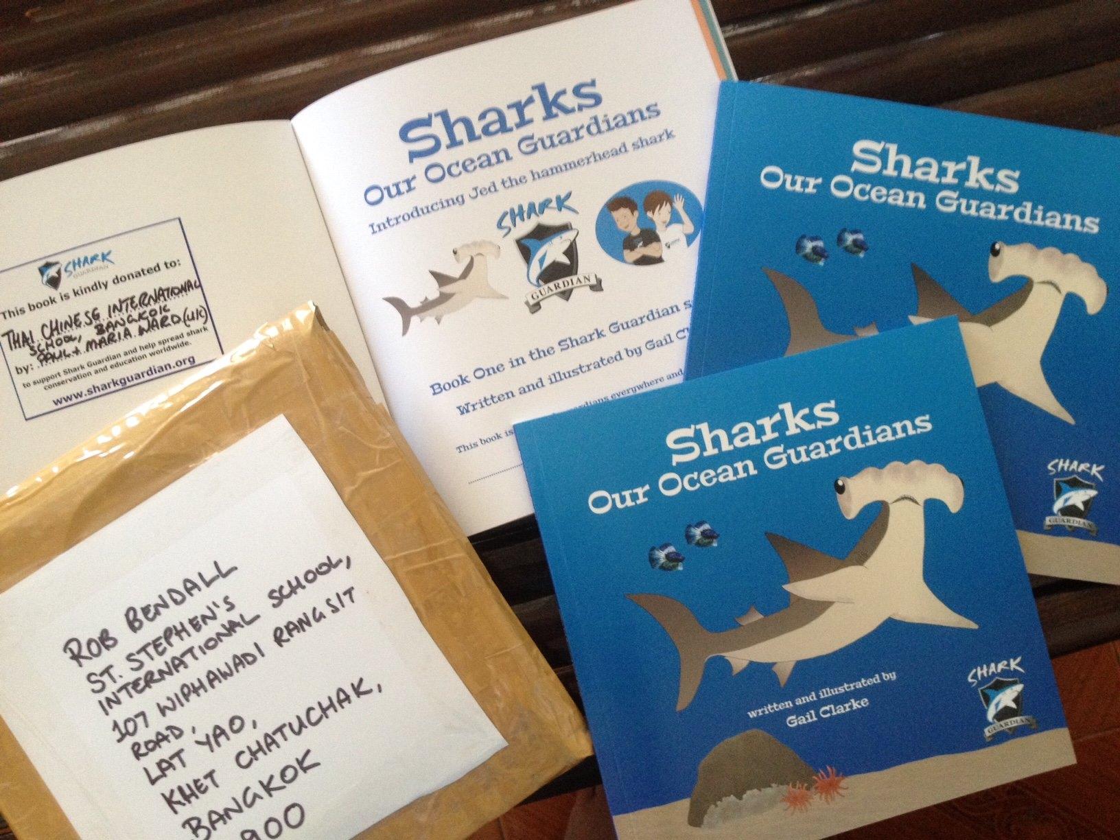 Preparing Shark Book for donations
