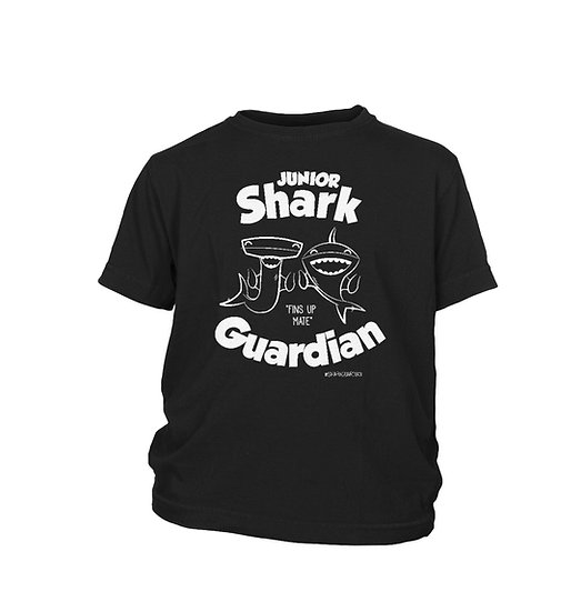 Kids Black Shark Guardian T-Shirt