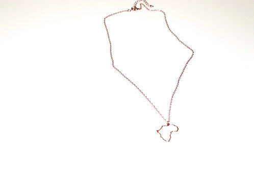 African outline necklace
