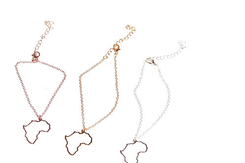 African outline bracelet