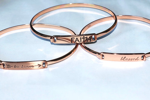 Set of 3 Positive words bracelet