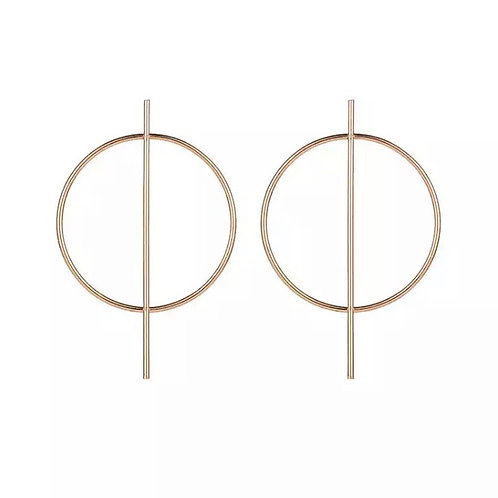 Lined circle earrings comes in gold and silver click view to view options.