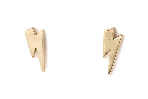 Gold Lightning Bolt Earring