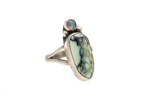 Varasite and Opal Ring