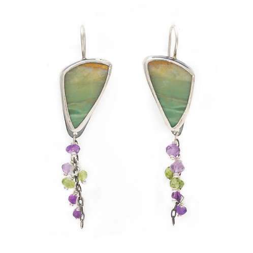 Jacaranda Leaf Earrings