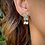 Thumbnail: Bandera Earrings with pearls