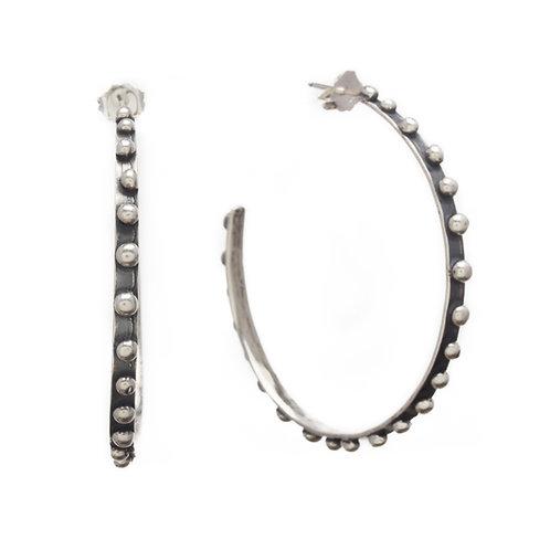 Pebble Hoop Earrings- large