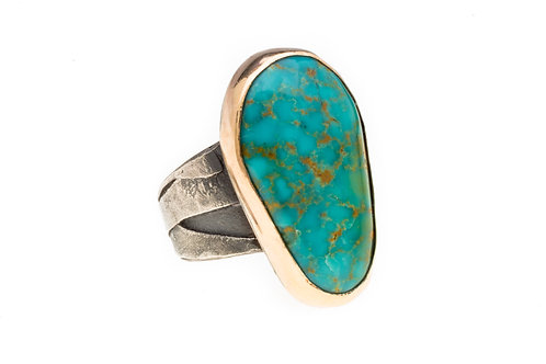 Turquoise and Gold Ring