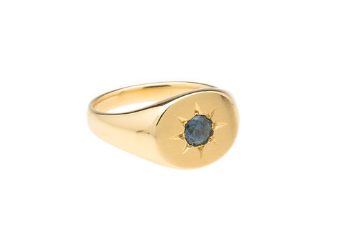 Sun and Sea Signet Ring