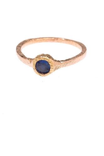 Deep Blue Sapphire Ring