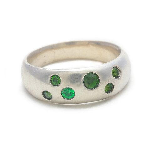 Green Grass Dome Ring