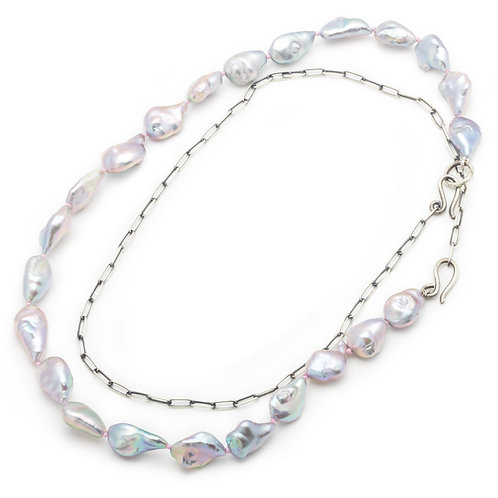 Large Baroque Pearl Necklace