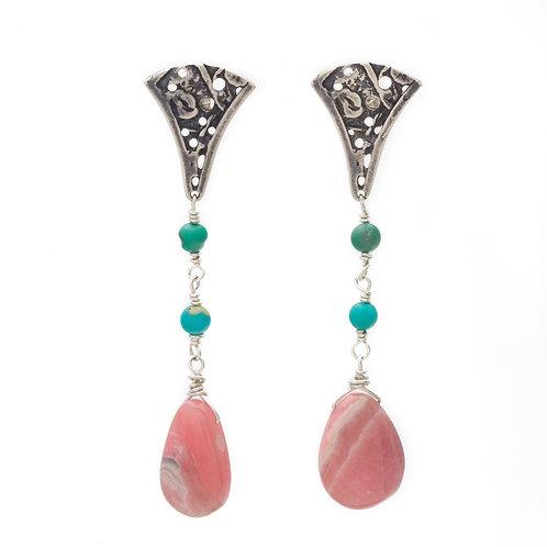 Pink Petal Earrings
