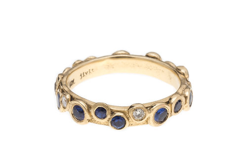 Paris Ring in  Sapphire and Diamond