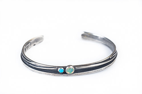 Opal and Turquoise Basin Cuff