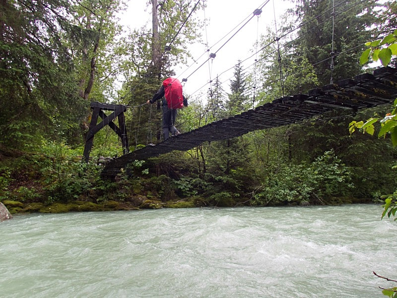 adventurous river crossing
