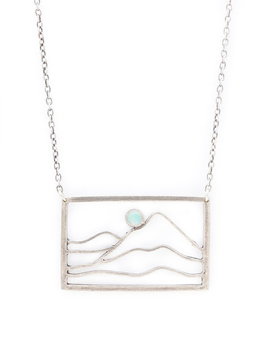 Blue Moon on the Horizon Necklace