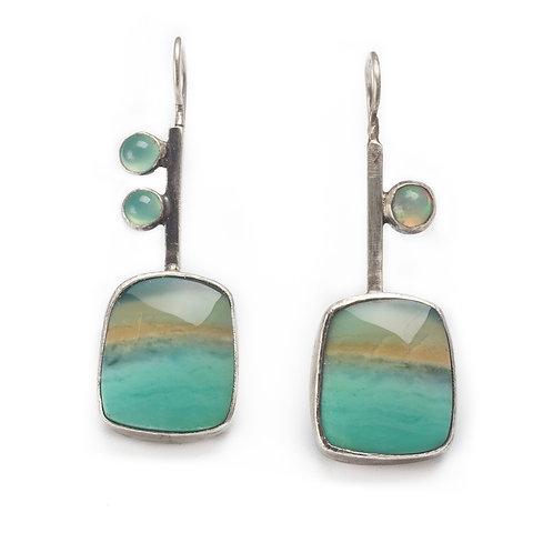 Beach Scene Earrings