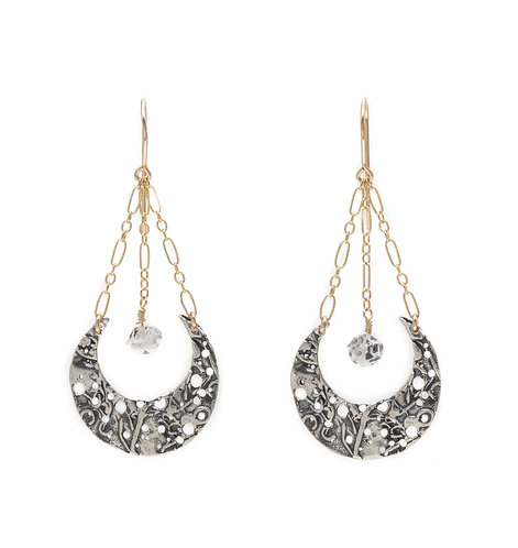 Diamond Moon Earring