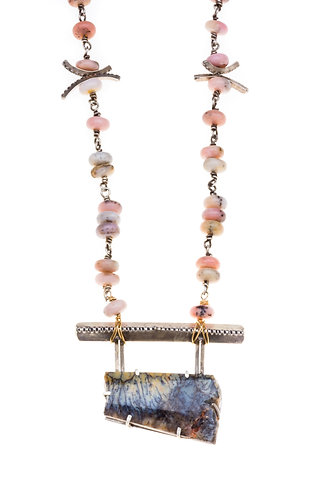 Opal Bridge Necklace