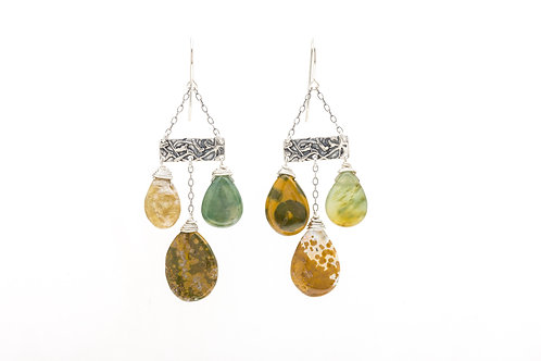 Ocean Jasper Erin Earrings