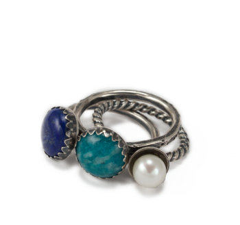 Gem Stacking Rings