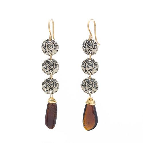 Tourmaline Many Moons Earrings
