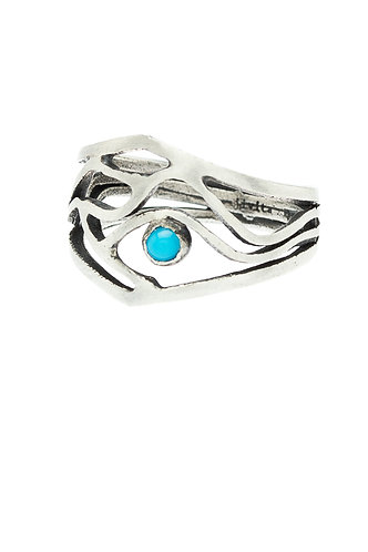 Horizon Ring with Turquoise or Opal