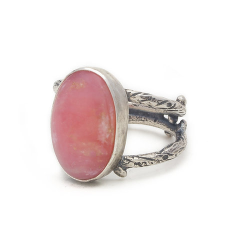 Pink Opal Branch Ring