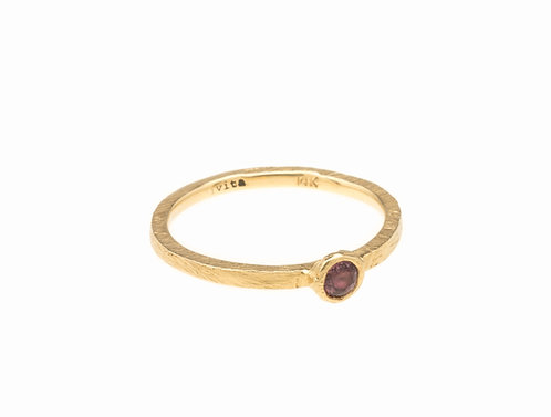 Wine Colored Sapphire Ring