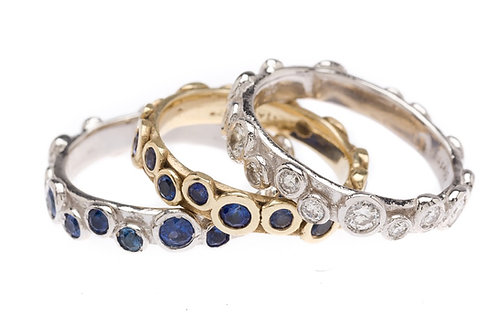 Gold Paris Ring with Sapphire