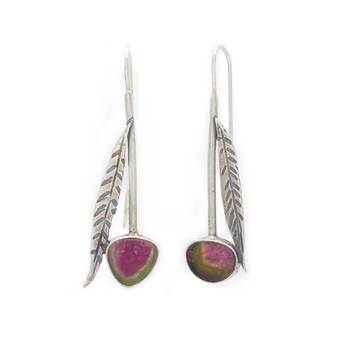 Tourmaline Leaf Earrings