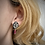 Thumbnail: Ruby Leaf Earrings