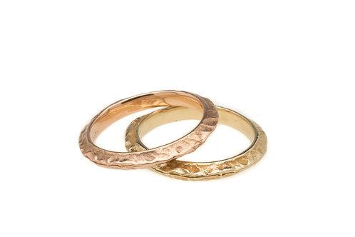 Gold Ridgeline Rings