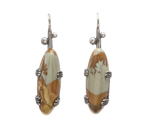 Jasper and Sage Earrings
