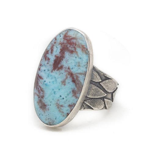 Dendritic Larimar Ring
