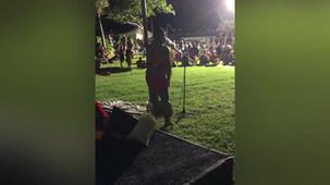 Performing at Luau Event-Kaneohe, Oahu