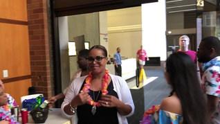Lei Greeting at Corp Luau-8/19