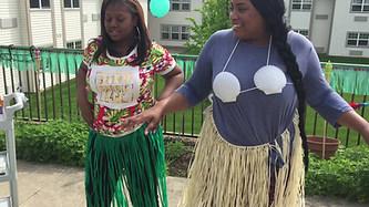 The Hula Dancing staff at a Care Facility