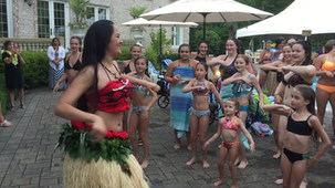Hula Lessons at Pool Party Luau