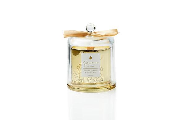 Jasmine . Lily . Neroli Glass Dome Candle