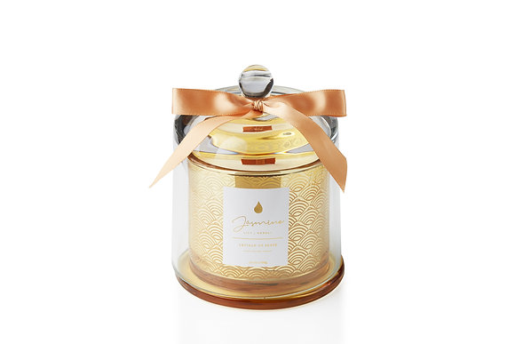 Jasmine . Lily . Neroli Glass Dome Candle