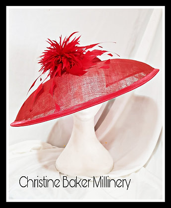 Red sinnamay dior style hat