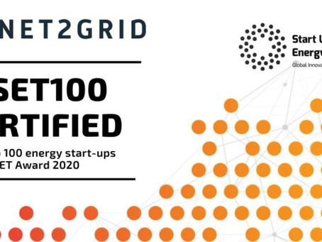NET2GRID selected into Top 100 Global Startup Energy Transition Award