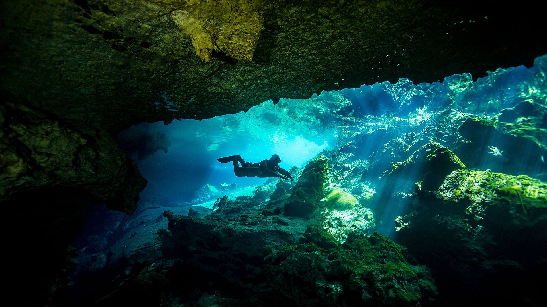 cavern diving cenote