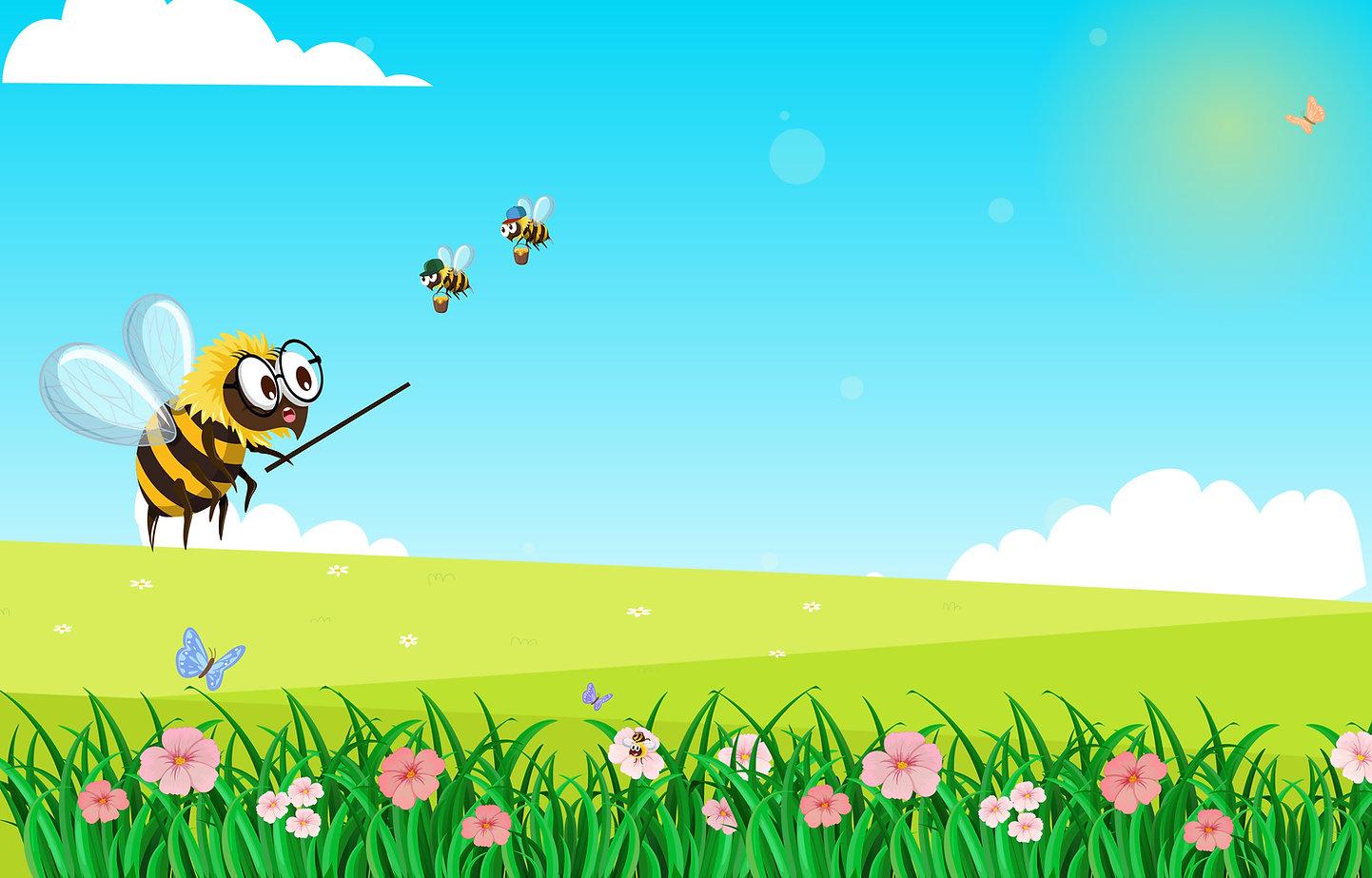 Phonics children's book. Bumblebees on the Run