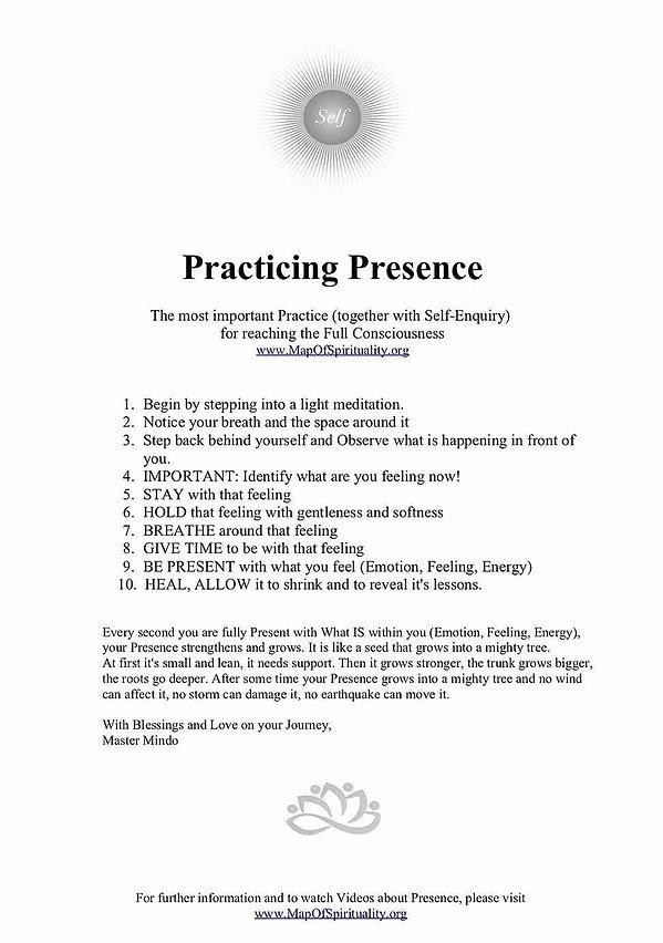 how to practice presence