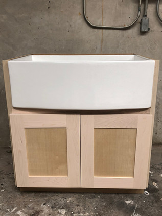 Custom Farm Sink Cabinet