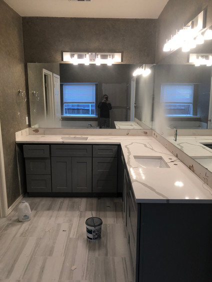 Painted cabinets, countertops,floors