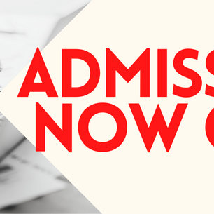 ADMISSIONS NOW OPEN!